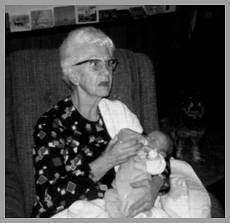 Helen with grandchild