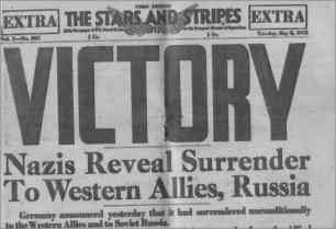 VE Day Newspaper